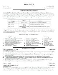 Marketing Executive Resume Samples Export Manager Resume Import ...