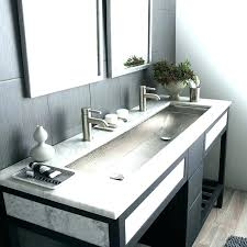 trough bathroom sink with two faucets trough sinks with two faucets trough sink two faucet co