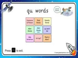 Work on the worksheet provided below. Qu Phonics Worksheets And Games Galactic Phonics