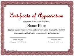 Free Appreciation Certificates 30 Free Certificate Of Appreciation Templates Free