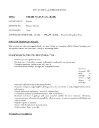 Parts Of A Resume Sample Resume Gallery Of Title Accounting Clerk Job Inventory 53
