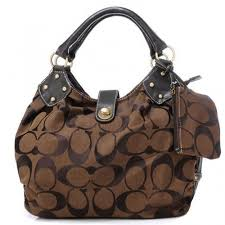 Coach In Signature Medium Coffee Satchels AZM
