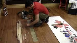 replacing a hardwood flooring board