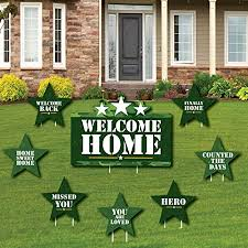 Amazon.com : Camo Hero - Yard Sign and Outdoor Lawn Decorations - Army  Military Camouflage Party Yard Signs - Set of 8 : Garden & Outdoor