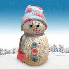 make your own sock snowman for