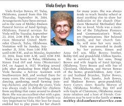 Viola Evelyn Bowes