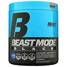 beast sports nutrition beast mode black ultimate workout supplement high energy ion