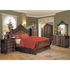 Sleigh Bed Bedroom Sets Yuan Tai Jasper 4pc King Size Sleigh Bedroom Set In Cherry