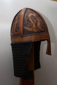 cool leather helmet thinking about a new project for viking helmet norse vikings