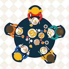 Dinner table top view of vector graphics My Free Photoshop World