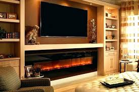 recessed wall electric fireplace in value line color touchstone sideline best mount col