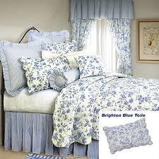 french blue toile bedding. Plain French Pink Toile Bedding French Country Shabby Chic Brighton Blue Quilt  Classic And Toile U