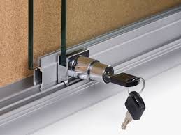 image of sliding glass door lock