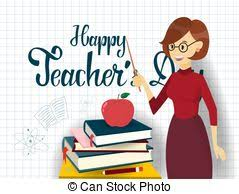 Happy Teachers Day Chart Teachers Day Set Happy Teachers Day Greeting Card With