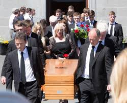 Heartbroken triplet sister of tragic balcony fall victim Jack Walsh  describes his death as an 'absolute tragedy' at emotional funeral