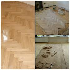 refurbshing and re laying a parquet floor