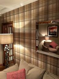 Plaid Curtains For Living Room Mulberry Tartan Wallpaper Inrichting Pinterest Wallpapers