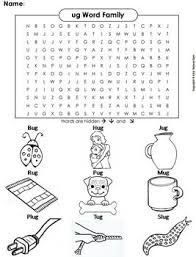 Word Family Coloring Pages Ug Word Family Word Search Coloring Sheet Phonics