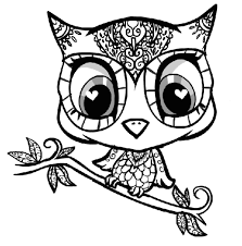 Small Picture Coloring Pages For Girls And Up Garden Pinterest Owl 1982