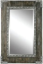 wood wall mirrors. Rustic Wall Mirrors Uttermost Wood Mirror Loading Zoom With Hooks .