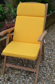 yellow recliner chair cushions and