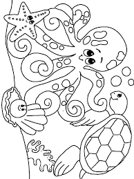 Coloring Pages Ocean Creatures Sea Creature Coloring Pages Simple