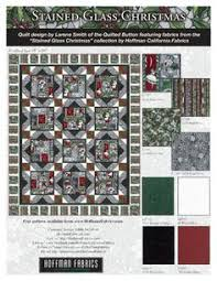 New Jingle Pops screenprint precuts by Hoffman Fabrics. FREE quilt ... & Stained Glass Christmas by Hoffman Fabrics. FREE quilt pattern at  HoffmanFabrics.com Adamdwight.com