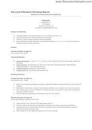 Entry Level Help Desk Resumes Information Technology Resume Samples Mmventures Co