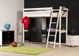 large bedroom furniture teenagers dark. Appealing Small Study Room And Large Dark Wardrobe Under Bunk Beds With Wooden Stairs Cool Bedroom Furniture Teenagers