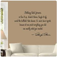 Small Picture Marilyn Monroe Wall Decal Decor Quote I Believe things happen