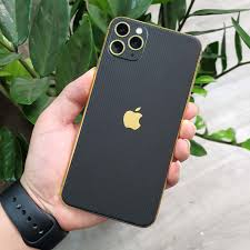 IPhone Pro | Pro Max | IPhone 11 | Combo Viền Vàng 18K & Film 3M