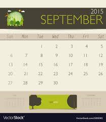 Free Downloadable Monthly Calendar 2015 2015 Calendar Monthly Calendar Template For Vector Image On Vectorstock