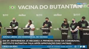 URGENTE: Enfermeira recebe a primeira dose da Coronavac em SP - YouTube