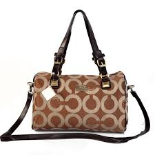 Coach In Monogram Medium Brown Luggage Bags CBQ