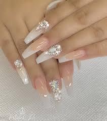 Pin by rene fields on nail art in 2020 | Crystal nails, Nail art wedding,  Bride nails