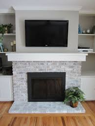 painting tile around fireplace how to whitewash a fireplace