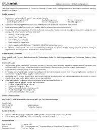 Manufacturing Engineer Resume Operations Manager Resume Sample