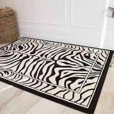 details about black white safari fake zebra skin animal print nature rug boutique living room
