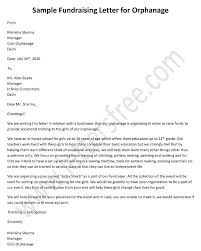 fundraising letter for orphanage