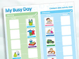 Magnetic Moves My Busy Day Childrens Activity Chart