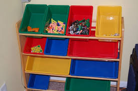 ... Catchy Kids Room Storage Bins Furniture Simple Oak Wood Kids Storage  For Toys With White Toy ...