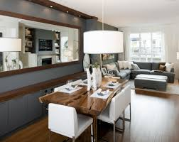 Living Room  Grey Living Room And Dining Room Ideas Grey Wooden - Modern dining room curtains