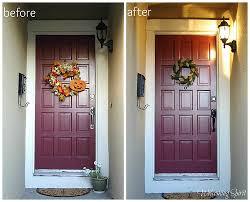 front door trimWelcoming Spirit Repainting the Trim on the Front Door aka Front