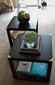 Ikea Hack.... DIY Trunk Cube Tables made from four LACK side tables