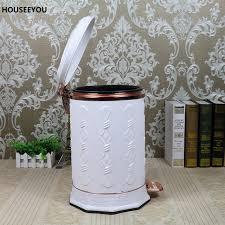 elegant trash can. Exellent Elegant Online Shop White Elegant Trash Can Stainless Steel Simple Style Bin  Foot Pedal Pressing Dustbin Home Quite Waste Bin 10L Garbage  Aliexpress Mobile For A