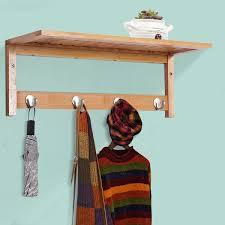 homcom wall mounted bamboo coat clothes