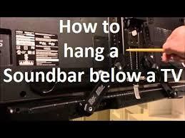 how to hang a soundbar below a flat