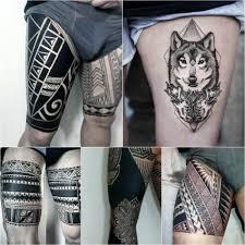 мужские татуировки на бедре фото