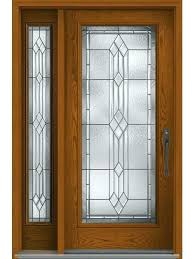 provincial full lite w stile lines oak fiberglass exterior door 1 side glass half 2 with built in pet and wood front elegant entryways