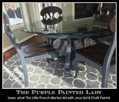 the purple painted lady 2 anne french graphite java table set chalk paint